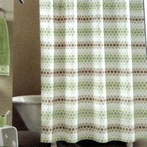 kohls fabric shower curtains kohl s apt 9 green taupe beige tan honeycomb equinox