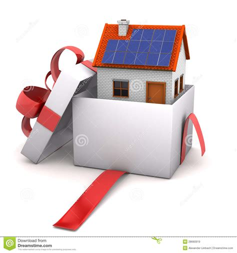 house gift opened gift house stock illustration image of agent