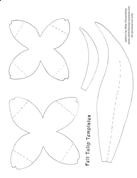 tulip template to make the tulips this template i created for