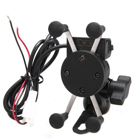 universal adjustable usb motorcycle bike mount holder