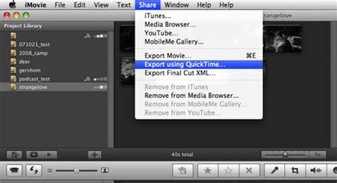 format video imovie export imovie project to avi wmv mp4