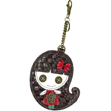Chala Coin Purse Key Fob chala smiling key chain coin purse leather bag