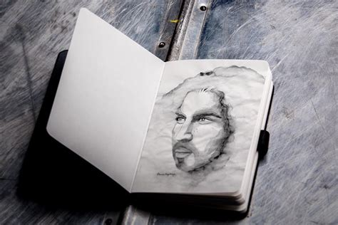 sketch book with pencil sketchbook and pencil mockup mockupworld