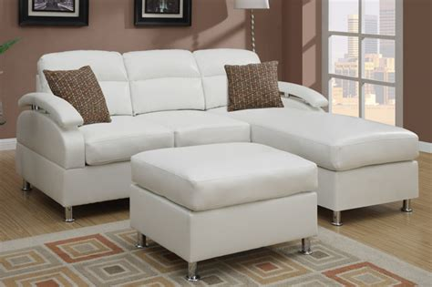 modern small leather sectional sofa reversible