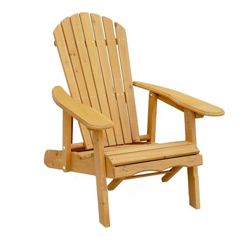 leisure season reclining patio adirondack chair  pull  ottoman ac  home depot