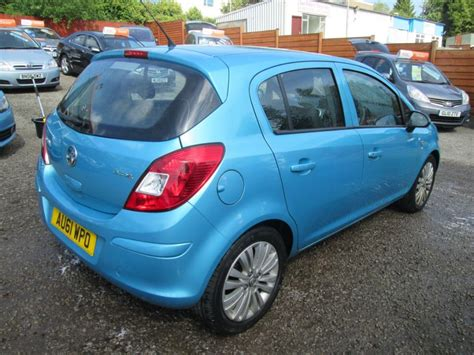 vauxhall corsa blue used blue vauxhall corsa for sale torfaen