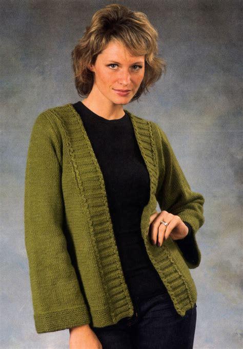 Knitting Pattern Kimono Sweater | woman s kimono sweater knitting pattern halcyon yarn