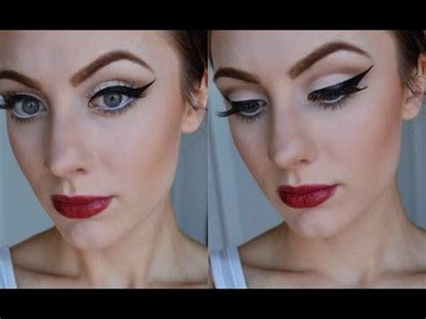 tutorial makeup vintage retro pin up inspired makeup tutorial youtube