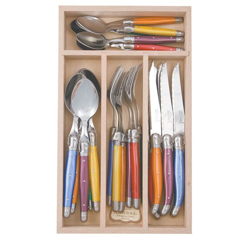 Cutlery Sets by Andre Verdier Laguiole Debutant Cutlery Set Mixed 24pc Ebay
