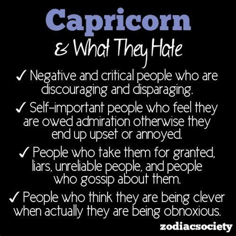 capricorn and what they hate d horoscope traits