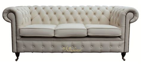 Ivory Leather Sofas Chesterfield 3 Seater Ivory Leather Sofa Offer