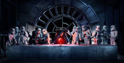 star wars the last creating the photograph steve brown s quot star wars last supper quot