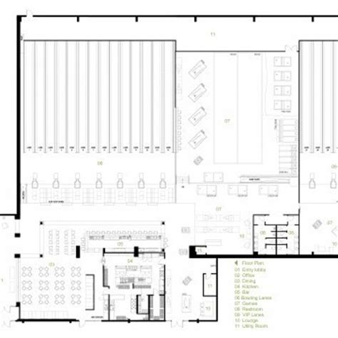 bowling alley floor plan e3 studio