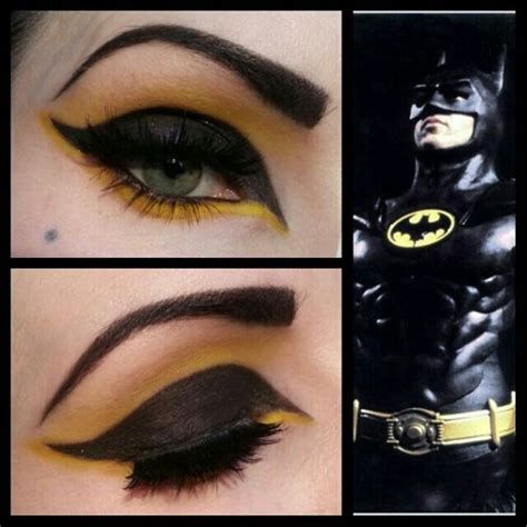 halloween hairstyles for batgirl batman inspired eye makeup makeup pinterest batman