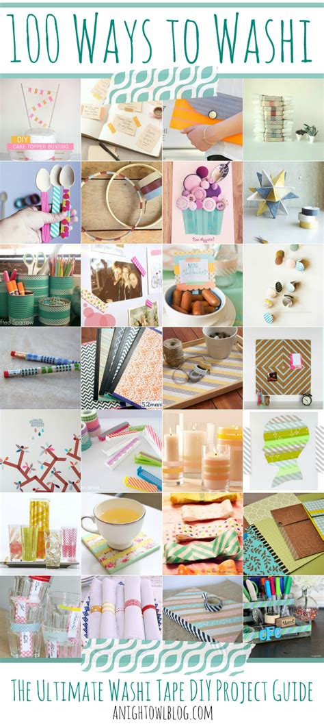 diy washi 100 ways to washi the ultimate washi tape projects guide fun projects washi tape and night owl