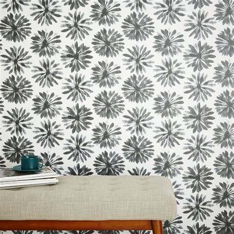 chasing paper removable wallpaper chasing paper removable wallpaper daisy gray west elm
