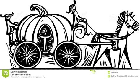 pumpkin carriage coloring page cinderellas carriage stock vector illustration of goose
