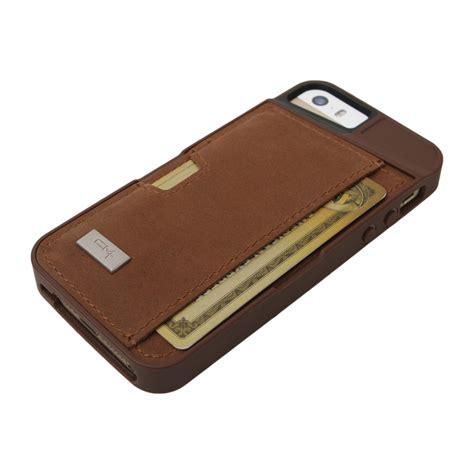 Exclusive Design Kulit For Iphone 5 5s Leather Black Or Brown q card leather iphone 5 5s brown cm4 touch of modern