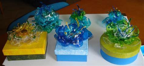 fiori di plastica riciclata creazioni di letizia riciclaggio bottiglie di plastica