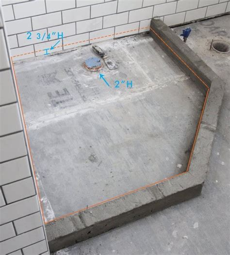 How To Build A Custom Shower Pan On Concrete Floor by Custom Shower Stall Base Interior Exterior Doors