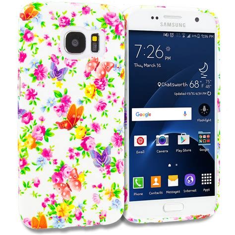 colorful flower tpu design soft rubber cover for samsung galaxy s7 edge cellphonecases