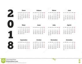 Calendario Novembro 2018 Ano Simples Do Calend 225 2018 Na L 237 Ngua Espanhola