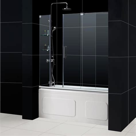 Tub With Glass Shower Door Mirage Frameless Sliding Shower Door Dreamline Bathroom Shower Doors Frameless Glass Shower Doors