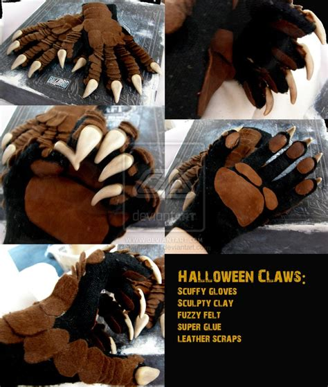 werewolf claws tutorial halloween claws by leighoflight paws claws hands