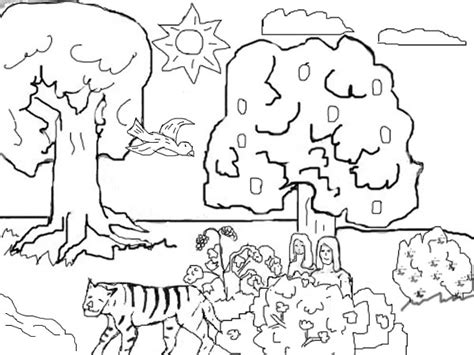 Adam And In The Garden Of Coloring Pages adam and coloring