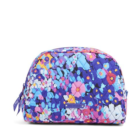vera bradley large zip cosmetic bag ebay