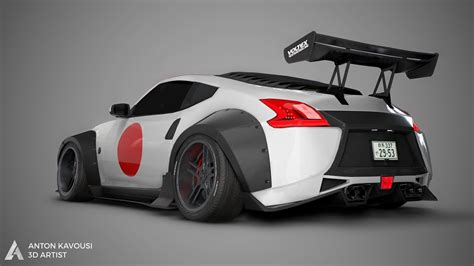 nissan 370z widebody nissan 370z widebody 3d model youtube