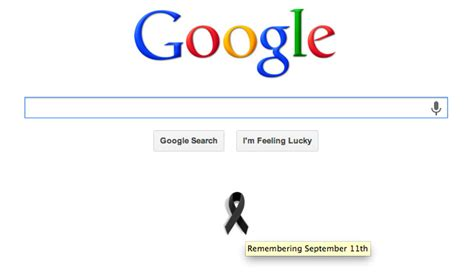 google theme today meaning 9 11 memorials from the search industry google ribbon vs