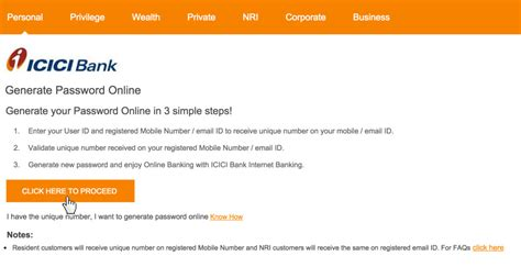reset password online icici direct icici bank login www icicibank com account sign in