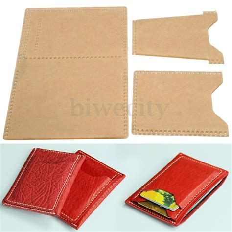 leather card holder template 3pcs plexiglass template leather pattern handcraft tool