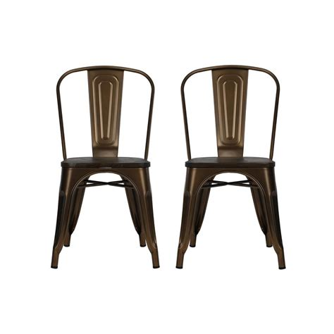 antique bronze metal chairs dhp penelope antique bronze metal dining chair with wood