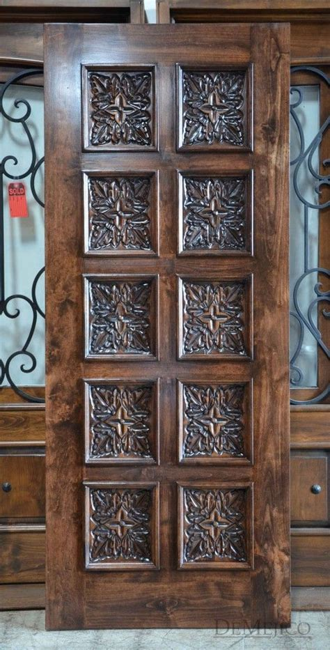 puerta hoja square top carved entry doors carved doors