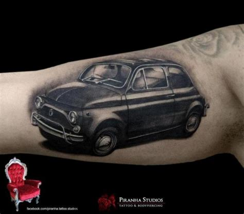arm realistic car tattoo by piranha tattoo supplies