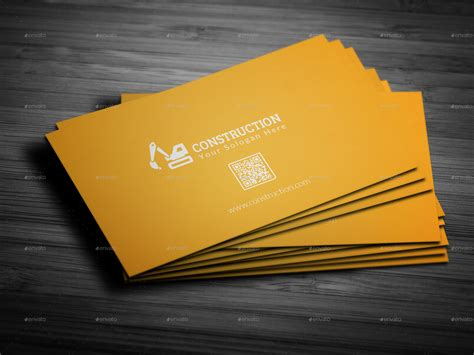 Calling Card Template Construction by Construction Business Card By Mehedi Hassan Graphicriver