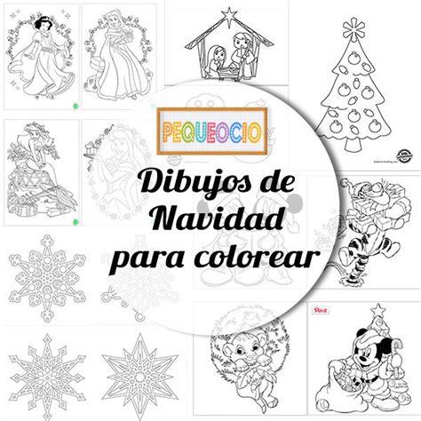imagenes infantiles navideñas para colorear dibujos navide 241 os para colorear pequeocio