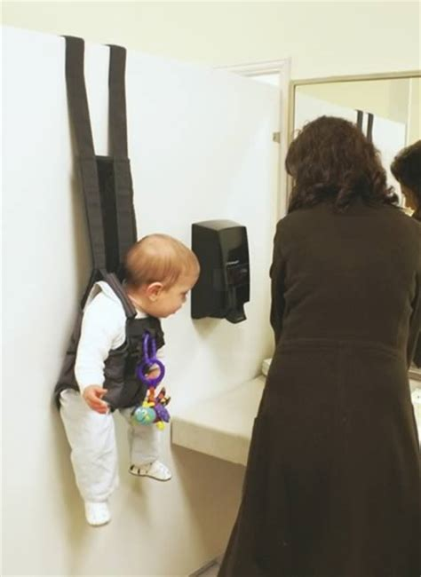 bathroom baby harness 13 craziest baby and maternity gadgets baby gadgets crazy gadgets oddee