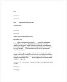 Promotion Letter Ms Word Format Sle Promotion Recommendation Letter 5 Exles In Word Pdf