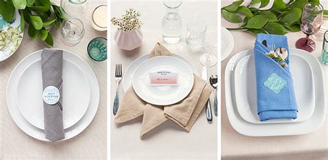 setting table napkin table setting tips 3 basic napkin folds gift favor