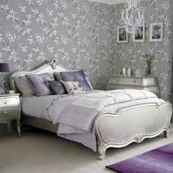 Silver Purple Bedroom - silver bedroom decorating ideas wallpaper housetohome co uk