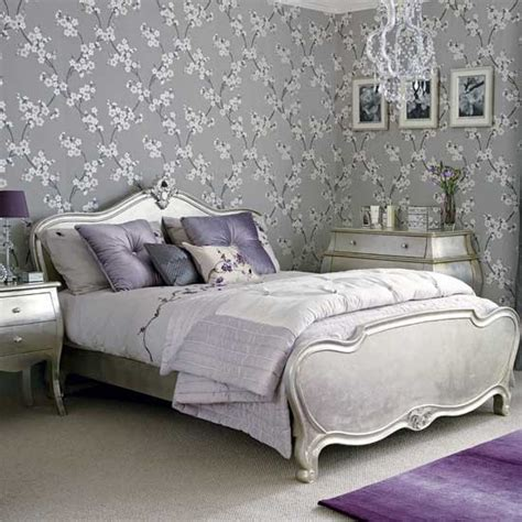 Metallic Bedroom Wallpaper silver bedroom decorating ideas wallpaper
