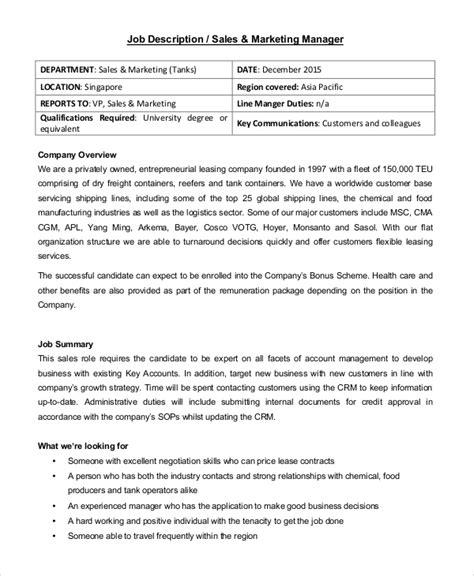 sle sales description 10 exles in pdf word