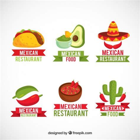 logotipos de cocina pack de logotipos con comida mexicana descargar vectores