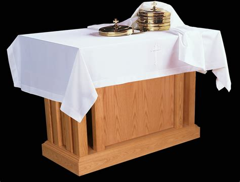 communion table cloth element cover cross