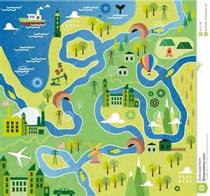 cartoon map stock vector image 50727793