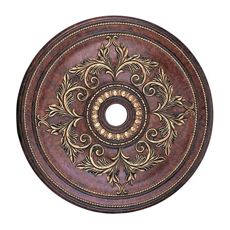 Ceiling Light Medallions Shop Livex Lighting Verona Bronze Ceiling Medallion At