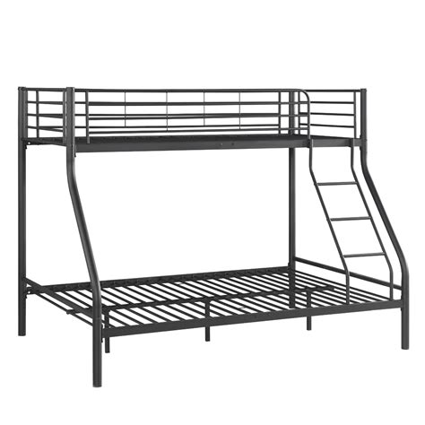 Metal Bunk Bed Ladder Black Ikayaa Modern Single Metal Bunk Bed Frame With Ladder Lovdock